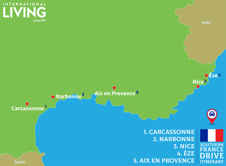 Southern-France-Drive-Itinerary